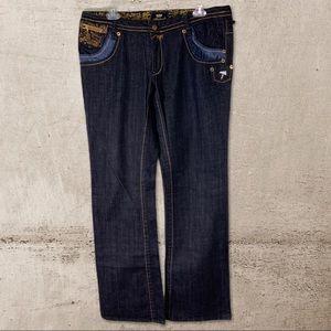 Akademiks Women's Hip Hop Jeans Embellis…
